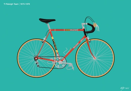'Raleigh team' print, from £100