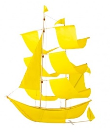 Sailing ship kite, £49