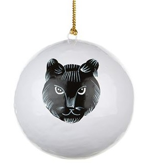 Cat face bauble, £15.95