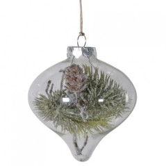 Snow and pine bauble, £4.50