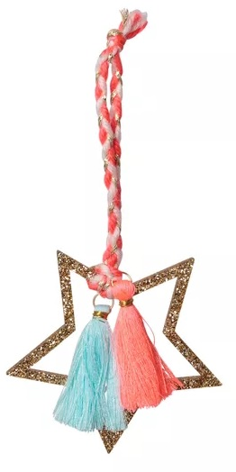 Star with tassels decoration, £4