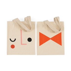 Tote wink + bow bag, £10