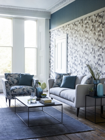 sofa.com Holly armchair in Anna Glover Paradise Mineral, Holly sofa in Anna Glover Raindance