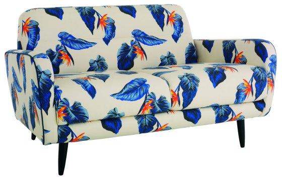 EMBARGO UNTIL 28.04.2016 - House of Holland x Habitat - Abel 2 seat sofa in Paradise Leaf print - £1,300.00