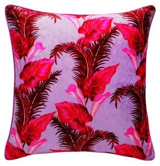 EMBARGO UNTIL 28.04.2016 - House of Holland x Habitat - Tropical Leaf reversible cushion 60x60cm - Side 1 - £60.00