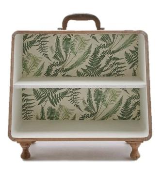 1. Palm pattern suitcase shelf £50