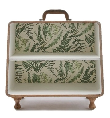 1. Palm pattern suitcase shelf £50