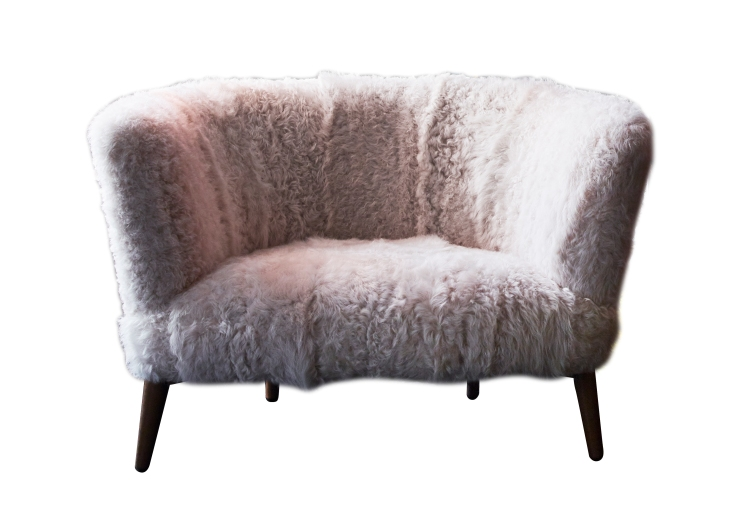 8. Limited edition Elton snuggler upholstered in Gushlow & Cole's luxury shearling fabric, £2,500 - Arlo & Jacob