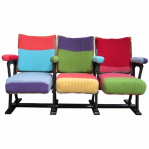 1. Hardy knitted cinema chairs, £2,600 - Melanie Porter