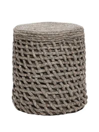 5. Round knitted wool pouf, £84 - Holly's House
