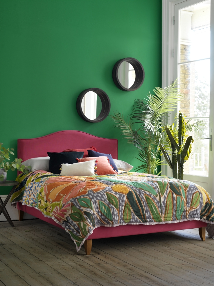 button-sprung-primrose-double-bed-frame-in-fuchsia