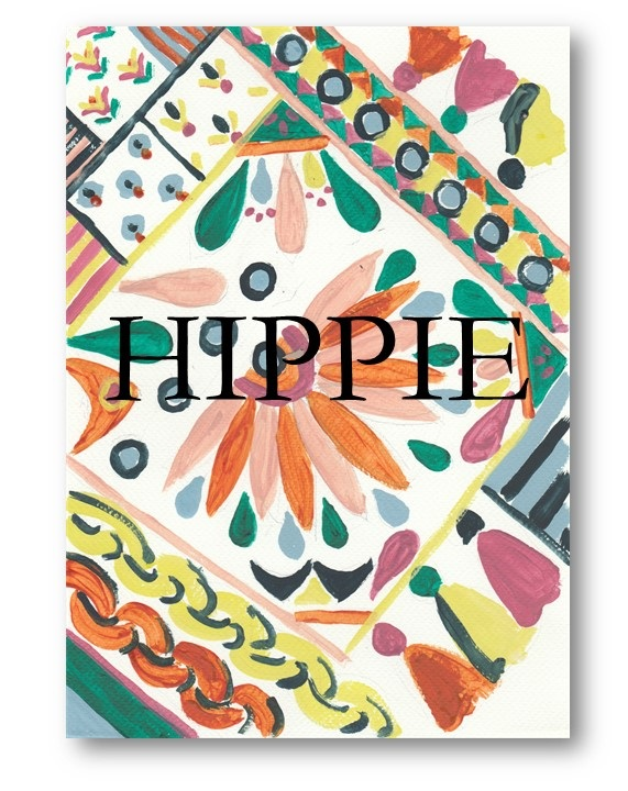 Hippie text
