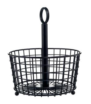 Restoration Black Wire Basket, £9