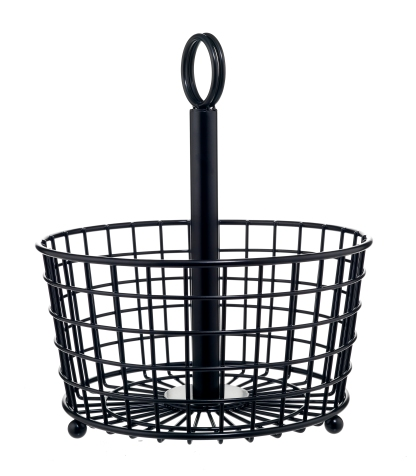 Restoration Black Wire Basket, £9