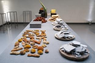 Caesarstone Rugged Concrete food display