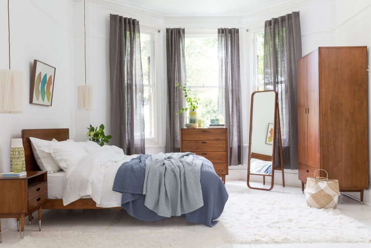 Soak&Sleep - Suvin bed linen set £TBC. Cranbrook furniture range from £140