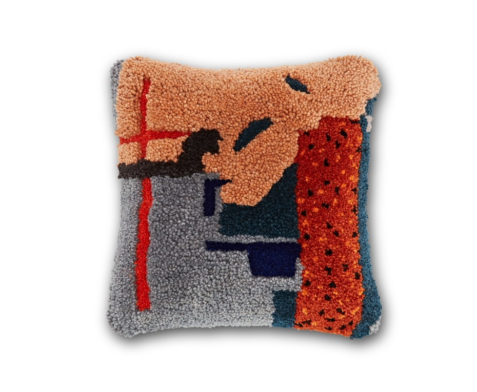 Abstract Cushion Front 2