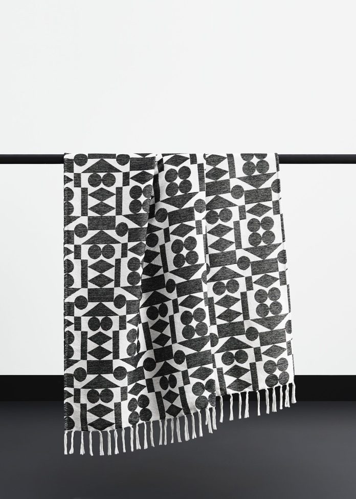 John Lewis + Paternity Ritual Reflect BCI cotton throw £60 - Copy