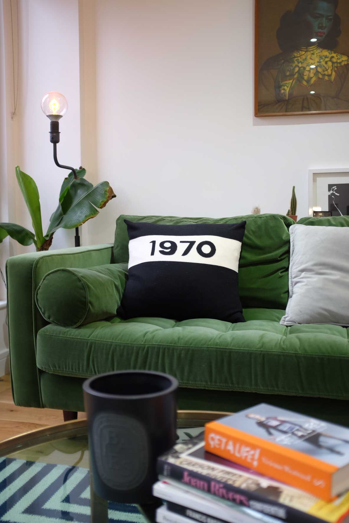 Is 2018\'s Must-Have Homeware The Dark Green Velvet Sofa?