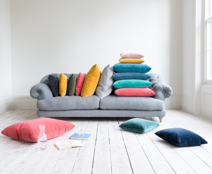 Loaf - Scatter cushions upholstered in NEW Velvet fabrics from £20 high res 2