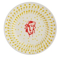 Francesca hand painted yellow & red ceramic side plate - £12.00 - Jackson & Levine for Habitat - www.habitat.co.uk