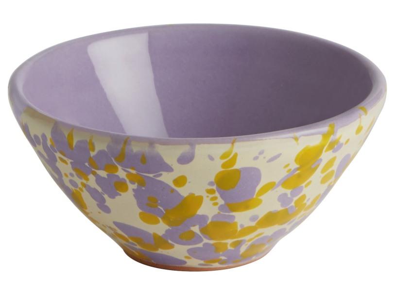 Martina hand painted yellow & lilac small ceramic pinch pot - £8.00 - Jackson & Levine for Habitat - www.habitat.co.uk