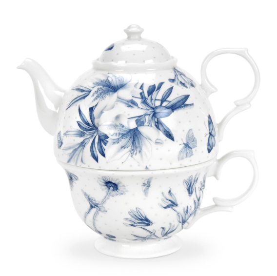Portmeirion Botanic Blue tea for one teapot £39.50