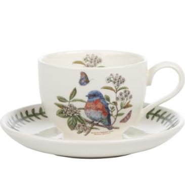 Portmeirion Botanic Garden Birds cup and saucer West Bluebird £18.50