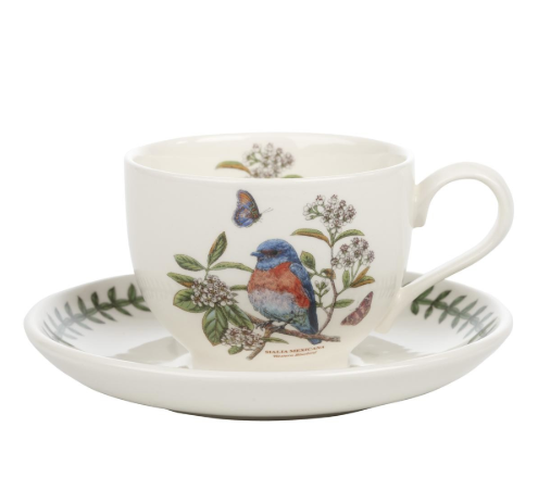 Portmeirion Botanic Garden Birds cup and saucer West Bluebird £18.50