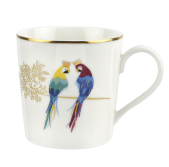 Portmeirion Sara Miller London Piccadilly Posing Parrots mug £13