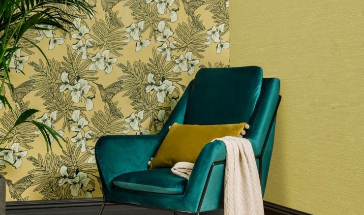 Hummingbird-Mustard-Wallpaper